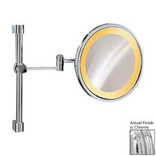 Vanity Light With Plug Shop Nameeks Windisch Chromed Brass 3x Magnifying Wall Mounted