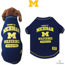 michigan wolverines fan gear ncaa pet fan gear michigan wolverines tee t shirt for dogs puppy cotton