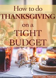 how to do thanksgiving on a tight budget