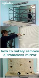 Removing Bathroom Mirror Glued by 17 Best Images About Home Ideas On Pinterest Cable Box How To