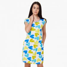 nite dress dress max heart print pocketed dress online max