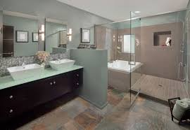 How To Remodel A Small Bathroom Small Bathroom Tile Ideas Brown Corner Cabinets Glass Shower Bath