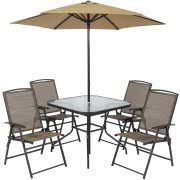 Folding Patio Set With Umbrella Best Choice Products 6pc Outdoor Folding Patio Dining Set W Table