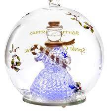 spode snowman glass led ornament silversuperstore