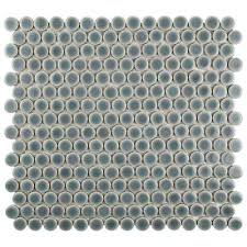 penny  mosaic tile  tile  the home depot with hudson penny round  from homedepotcom