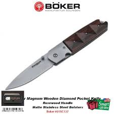 boker kitchen knives boker magnum wooden pocket knife rosewood handle 01sc137