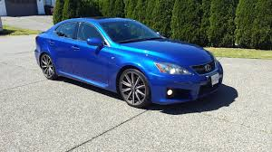 blue lexus can vancouver 2009 lexus is f ultrasonic blue 53k clublexus