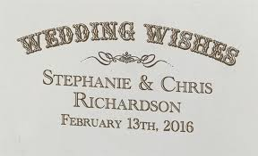 wedding wishes logo personalized wedding wishes antique white wine box on sale at