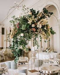 Tall Wedding Vases For Sale Tall Wedding Centerpiece Geometric Modern Organic Greenery