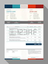 blue invoice template design layout royalty free cliparts vectors