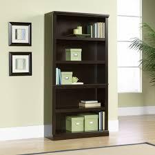 sauder 5 shelf bookcase jamocha wood 5 shelf bookcase 410375