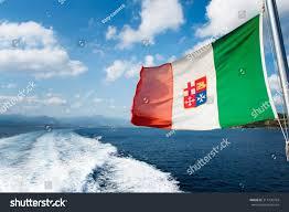 Singapore Navy Flag Windswept Flag Italian Navy Marina Militare Stock Photo 317736764