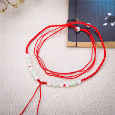 beading cord necklace images Fishhook chinese style hand knotted beaded pendant red rope cord jpg