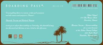 Boarding Pass Wedding Invitations Wedding Invitations Boarding Pass Custom Color Invitations By R2