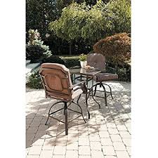 Mainstays Patio Furniture by Amazon Com Mainstays Wentworth 3 Piece High Outdoor Bistro Set