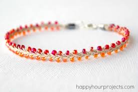 bracelet with beads patterns images Beaded hemp ankle bracelet happy hour projects jpg