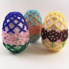 Easter Decorations Pdf by 109 Best Beaded Eggs Images On Pinterest Easter Eggs Beads And