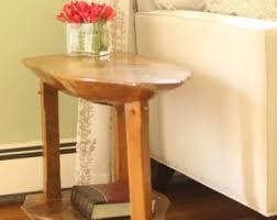 Wood Slab End Table by Pine Slab Etsy