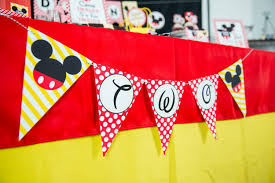 Mickey Mouse Flag Red Minnie Mouse Birthday Party Printables And Invitation