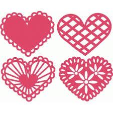 heart doilies silhouette design store view design 43056 heart doilies