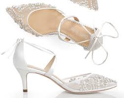 wedding shoes embellished ivory wedding shoes etsy