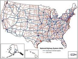 map us hwy national highway system united states
