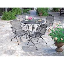 meadowcraft glenbrook round mesh patio dining table outdoor