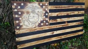 american flag marine flag wood marine flag usmc flag wood