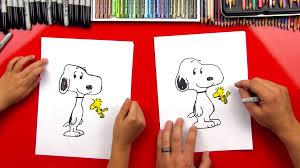draw snoopy woodstock art kids hub