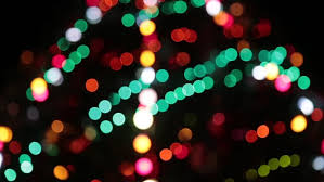 and new year decoration abstract blurred bokeh blinking