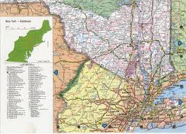 Southeastern United States Map by Southeast New York State Map