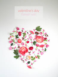 Magazine Wall Art Diy by Valentine U0027s Day Flower Wall Art