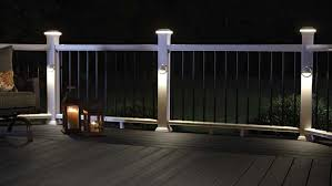 led deck lights decking rail lights fiberon