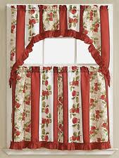 Red Kitchen Curtain by Apple Curtains Ebay