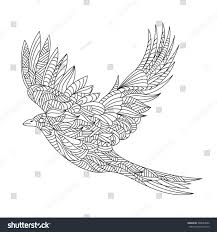 vector monochrome hand drawn zentagle illustration stock vector