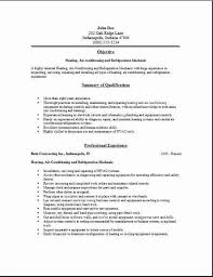 Best Sample Resume by Sample Resume For Air Conditioning Technician Resume Sample