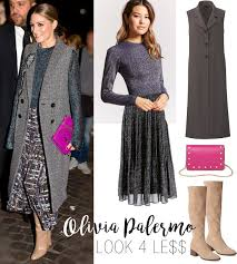 olivia palermo u0027s metallic sweater and midi skirt look for less