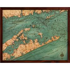 Long Island New York Map by Below The Boat Long Island Sound