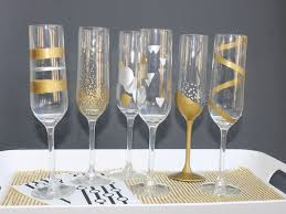 new years chagne glasses easy diy new year s painted chagne flutes