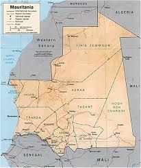 African Continent Map Map Of Mauritania Nouakchott Sahara Desert Travel Africa