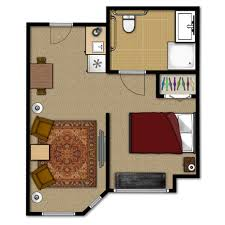 studio floorplan whispering knoll assisted living