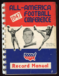 1947 all american football conference record manual aafc glenn