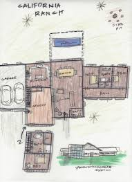 Ranch Style House Floor Plans by If Walls Could Dream California Ranch Floor Plan Sketch