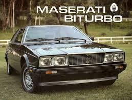 1985 maserati biturbo maserati biturbo 2500 coupé