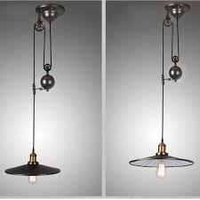 Adjustable Pendant Light 15 Best Ideas Of Pulley Adjustable Pendant Lights