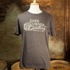 dark corner distillery comfort color tees in melon grass and