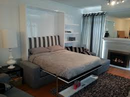 Murphy Bed With Bookshelves Murphy Bed Floating Shelf With Sofa Vancouver Based