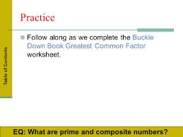 greatest common factor least common multiple prime factorization