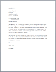 sample grievance letter u2013 free sample letters