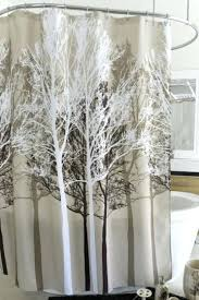Shower Curtains With Trees Tree Shower Curtain Forest Beige Fabric Shower Curtain Home